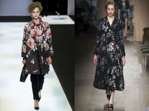 Women's floral printed coats