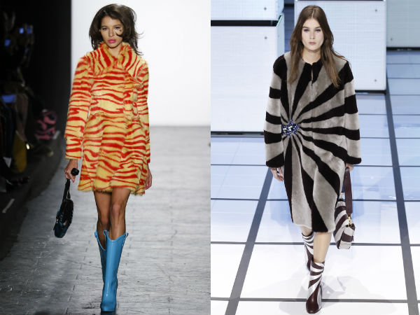 Elegant printed coats Winter 2018