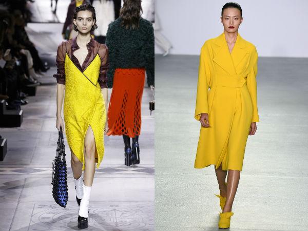 Yellow garment