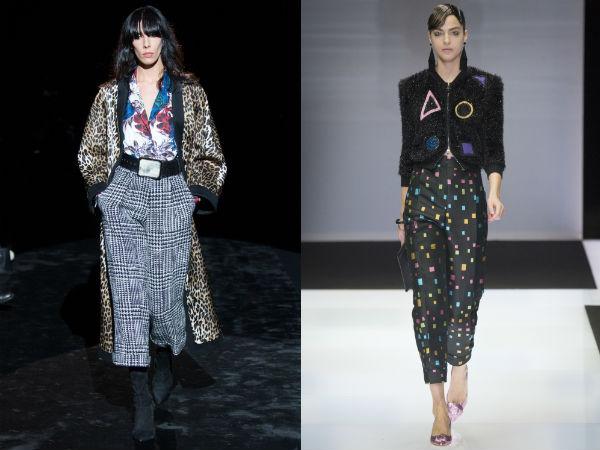 Capri pants with fashion print