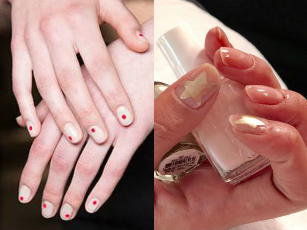 Negative space nail ideas