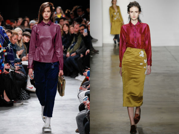 Women's blouses with collar