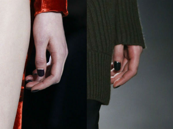 Fall Winter 2017 2018 goth nails