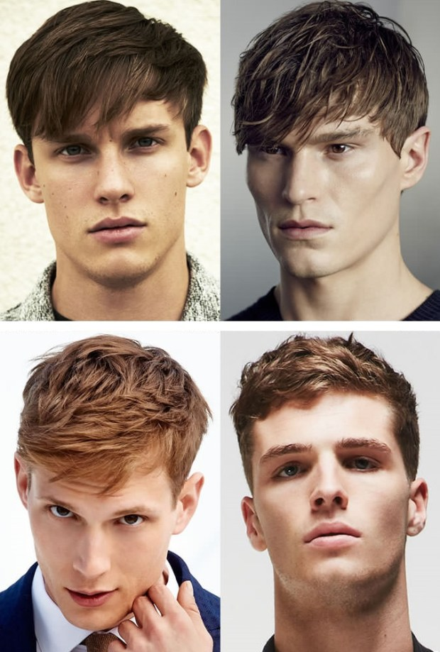 Men hairstyles with bangs