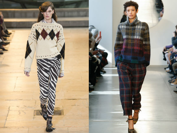 Sweaters for woman fall winter 2017 2018: prints