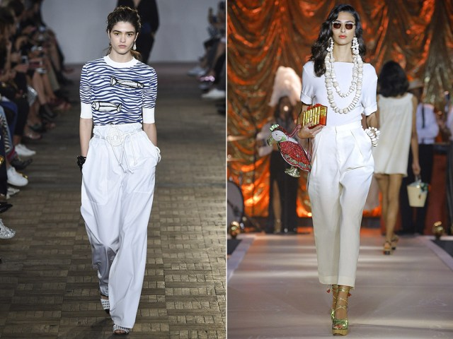 Women white elegant pants