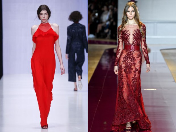 Red gowns for New Year