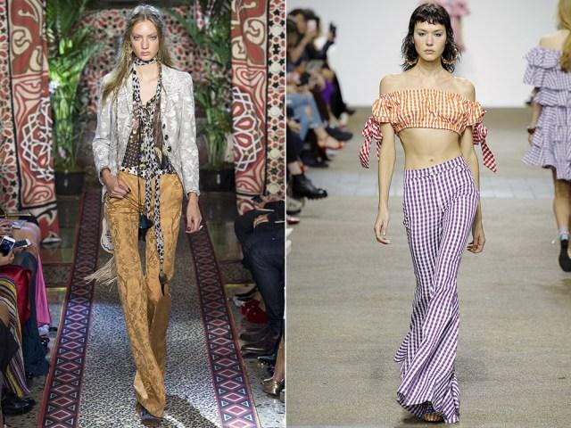 Fashion flared pants
