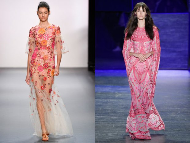 Pink evening dresses designs