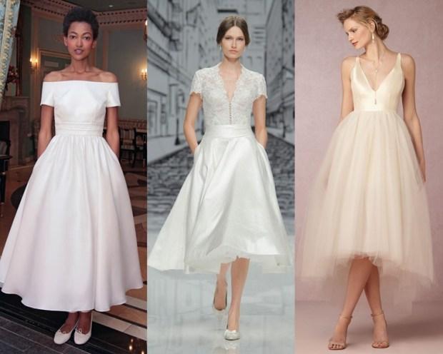 Midi wedding gown