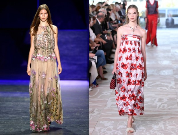 fashion floral print in 2018 NYFW