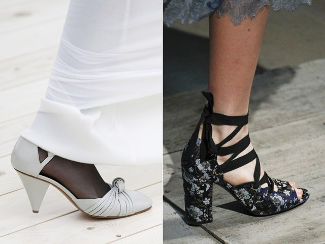 medium heel retro style