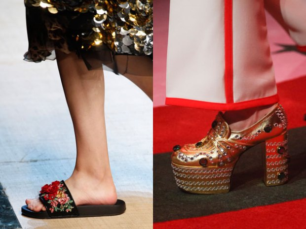 Footwear designs with fashion decorative elements