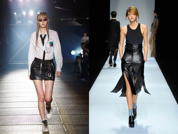 Leather skirts 2018 spring summer