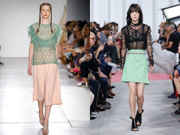 Women blouses 2018 spring summer transparent fabrics