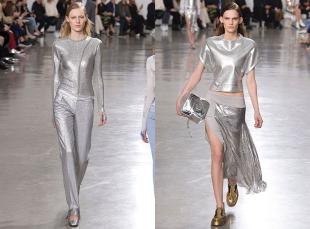 Fashionable metallic gray color 2019