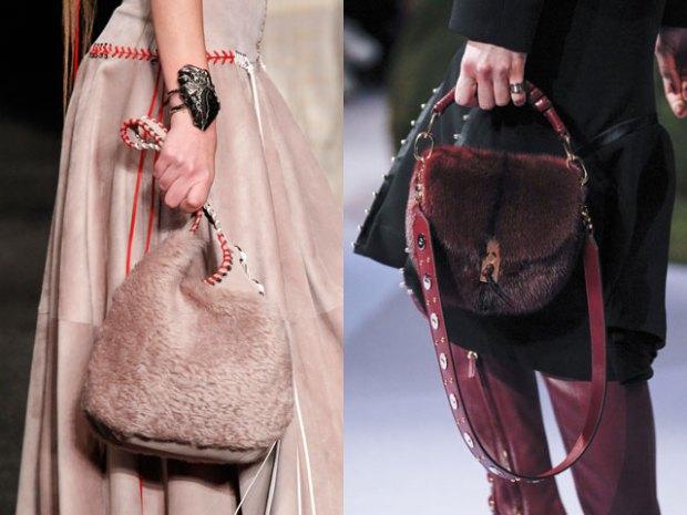Furry handbags fall winter 2018 2019