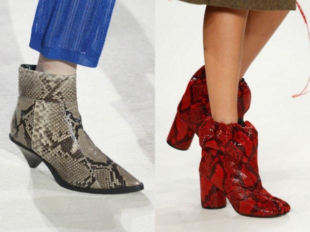 Footwear trends for woman 2019 reptile skin