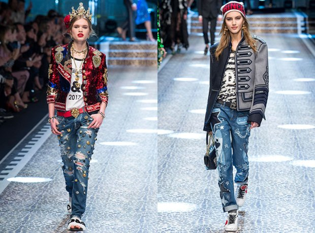 Jeans fall 2018 winter 2019: decorative elements