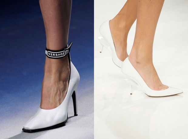 white shoes with comfortable heel