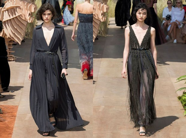 Dresses with V-neckline Fall-Winter 2018 2019