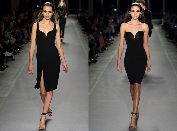 black with heart shaped neckline