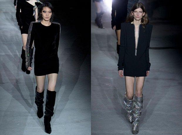Black short casual dresses