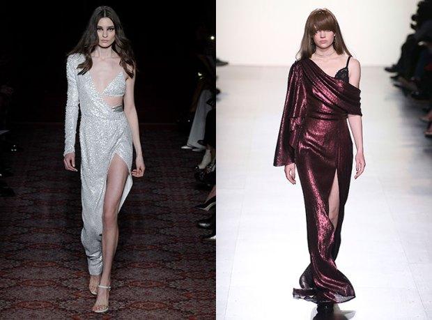 Asymmetric evening dresses fall 2018 winter 2019