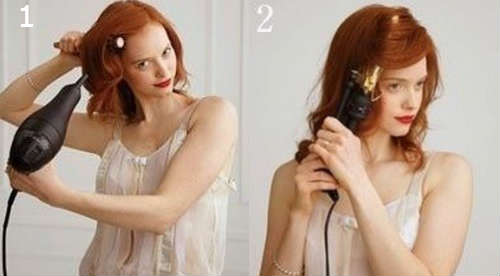 Step by step curly bun hairstyle