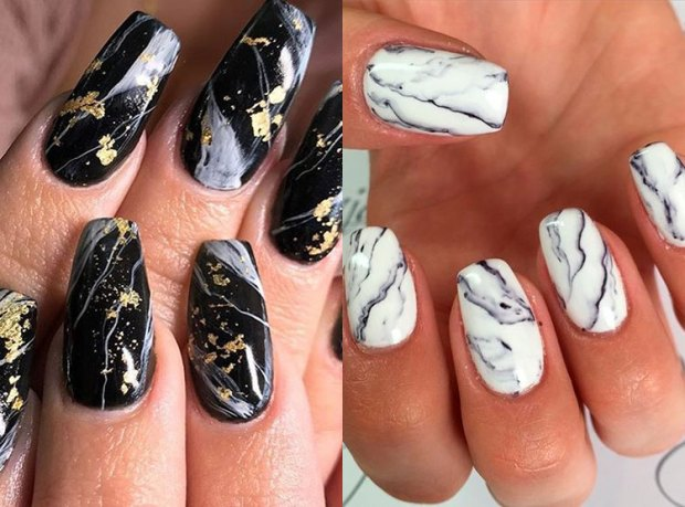 Long stylish nails