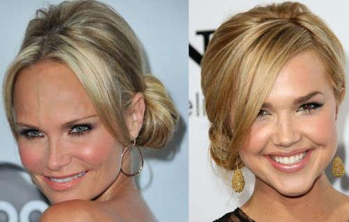 hair bun for Blonde hair