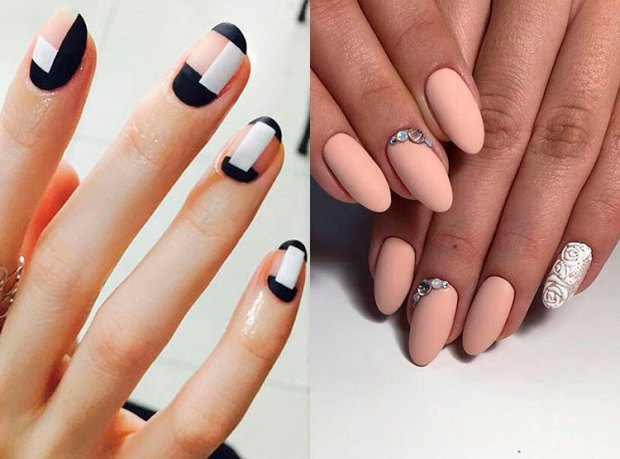 nails with simple drwaings