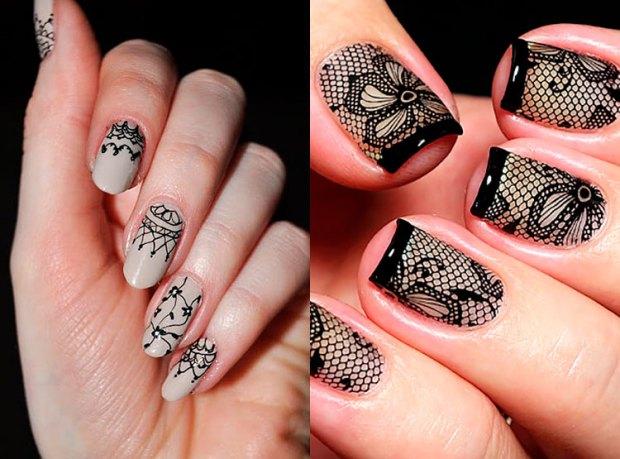 Nail ideas fall winter 2018 2019: lace