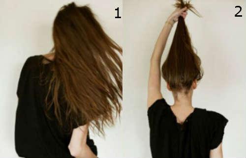 Soft bun for long hair