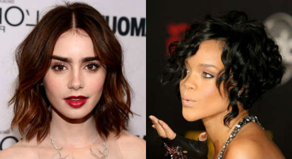 Celebrities curly bob hairstyle