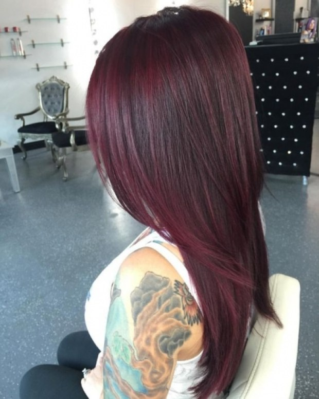 Burgundy hair color trends 2019