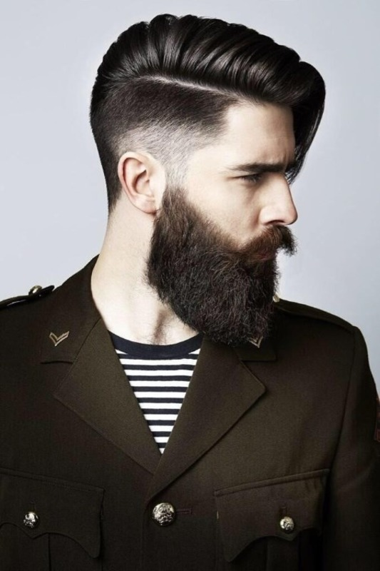 Mens haircuts for medium length hair 2019 with beard