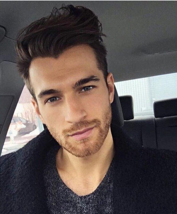 Pompadour haircut for medium length hair