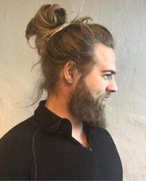 Mens haircuts for long hair ponytail