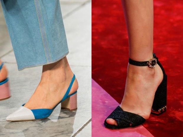 Squared heels sandals 2019 spring summer