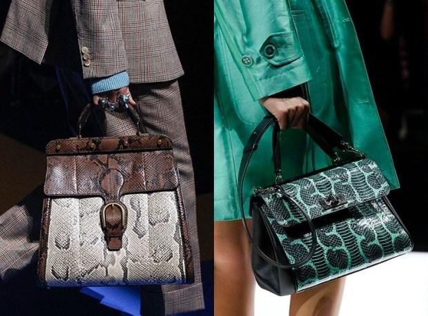 Reptile skin leather 2019 handbags