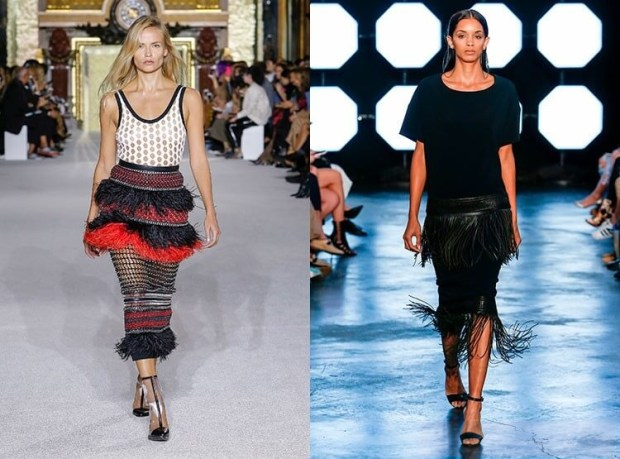 Fringed skirts spring-summer 2019