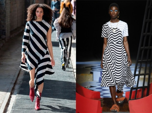 Spring summer dress 2019 black and white dress