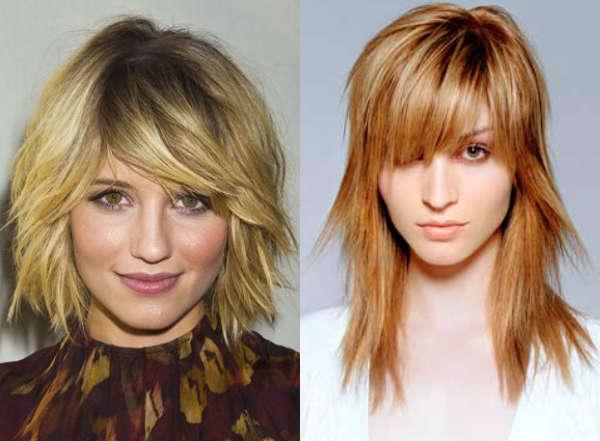 Long thinned bangs haircut for medium length hair