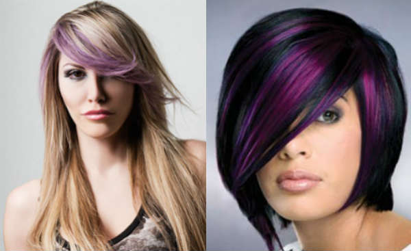 Creative haircuts with long bangs