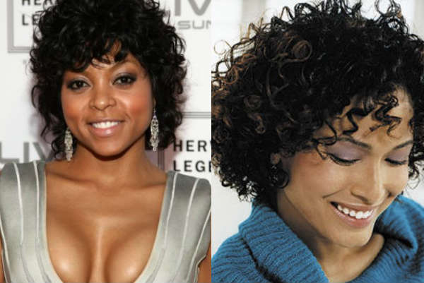 Haircuts for short curly hair and round face shape