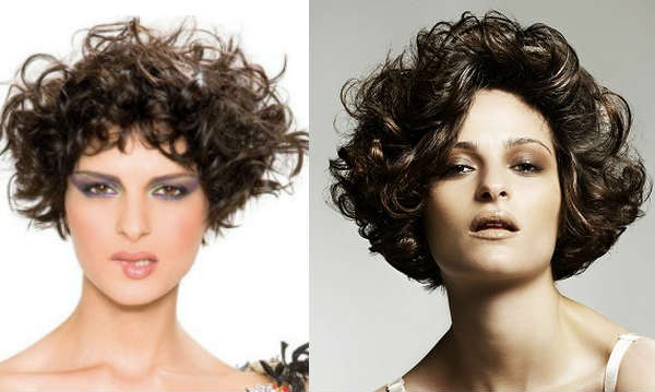 Haircuts for brunette curly hair