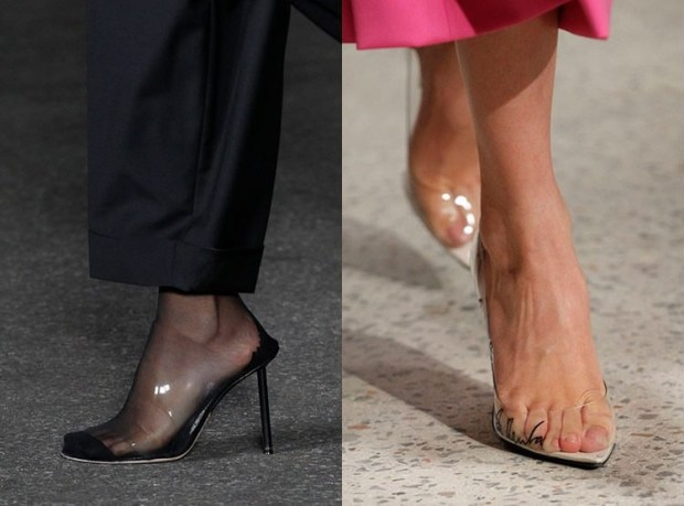 Transparent footwear spring-summer 2019