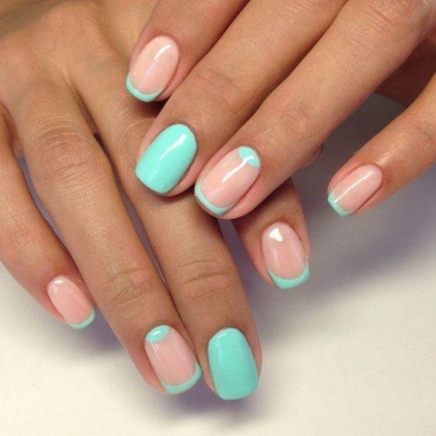 gel short nails design