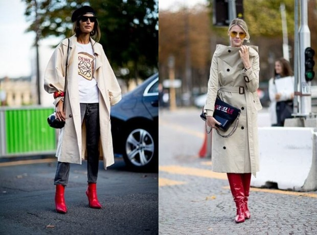 Outfits with red boots